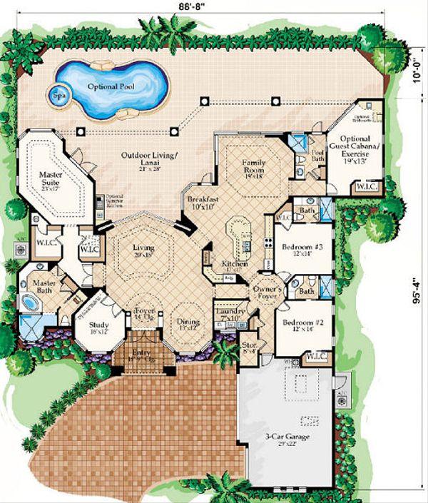 European Floor Plan - Main Floor Plan Plan #27-369