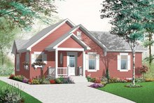 Dream House Plan - Front View - 1200 square foot cottage home