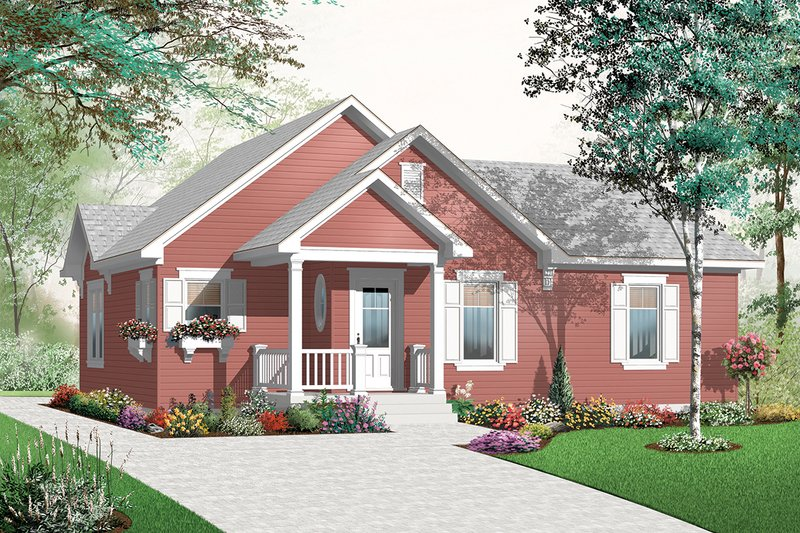 Front View - 1200 square foot cottage home