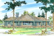 Ranch Style House Plan - 3 Beds 2 Baths 2191 Sq/Ft Plan #124-472 Exterior - Rear Elevation