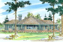 Ranch Exterior - Rear Elevation Plan #124-472