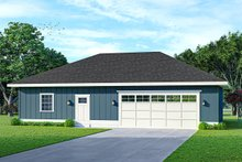House Blueprint - Traditional Exterior - Front Elevation Plan #124-1236