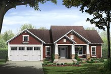 Architectural House Design - Craftsman Exterior - Front Elevation Plan #21-382
