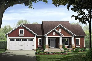 Dream House Plan - Craftsman Exterior - Front Elevation Plan #21-382