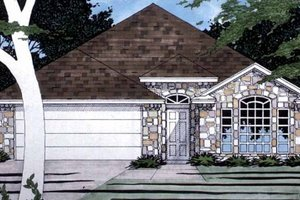 Ranch Exterior - Front Elevation Plan #472-279