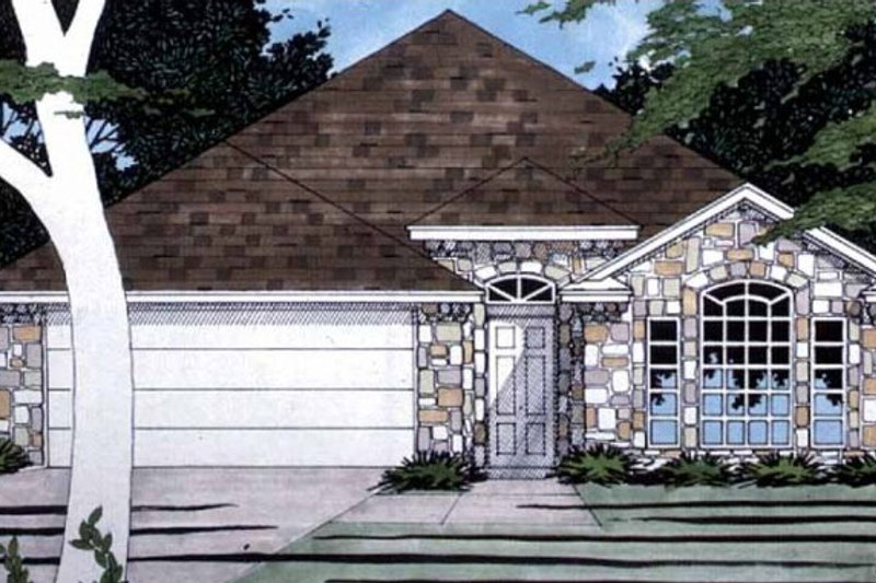 Home Plan - Ranch Exterior - Front Elevation Plan #472-279