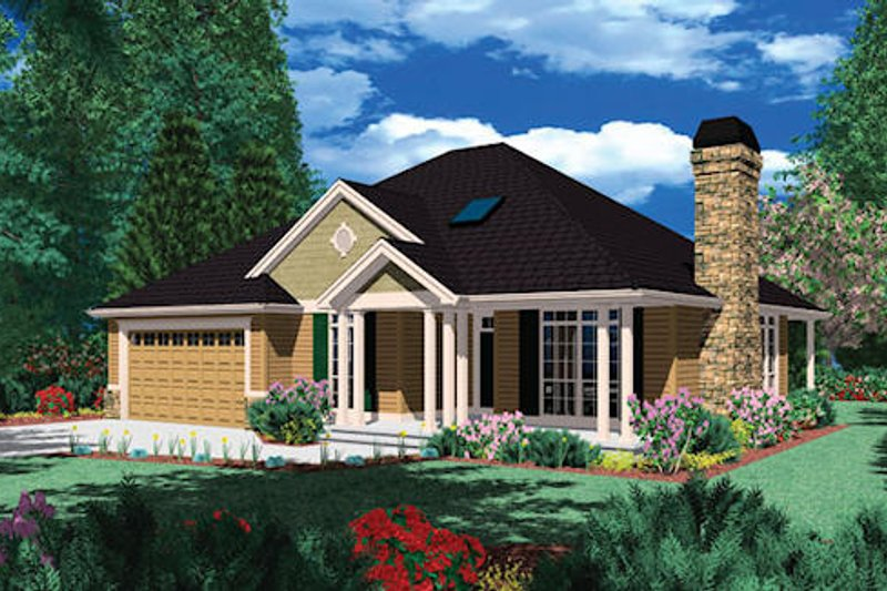Traditional Exterior - Front Elevation Plan #48-407