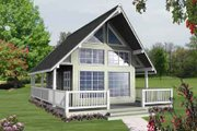 Contemporary Style House Plan - 1 Beds 1 Baths 582 Sq/Ft Plan #118-105 Photo