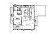 Beach Style House Plan - 3 Beds 4 Baths 2590 Sq/Ft Plan #536-5 Floor Plan - Upper Floor Plan