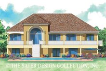 House Plan Design - Mediterranean Exterior - Rear Elevation Plan #930-150