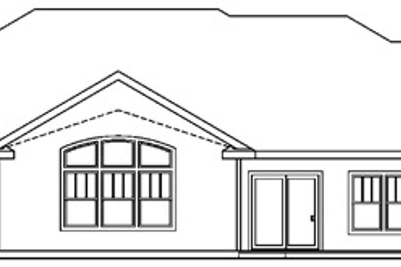 Craftsman Exterior - Rear Elevation Plan #124-689 - Houseplans.com