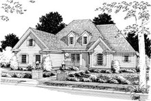 Traditional Exterior - Front Elevation Plan #20-344