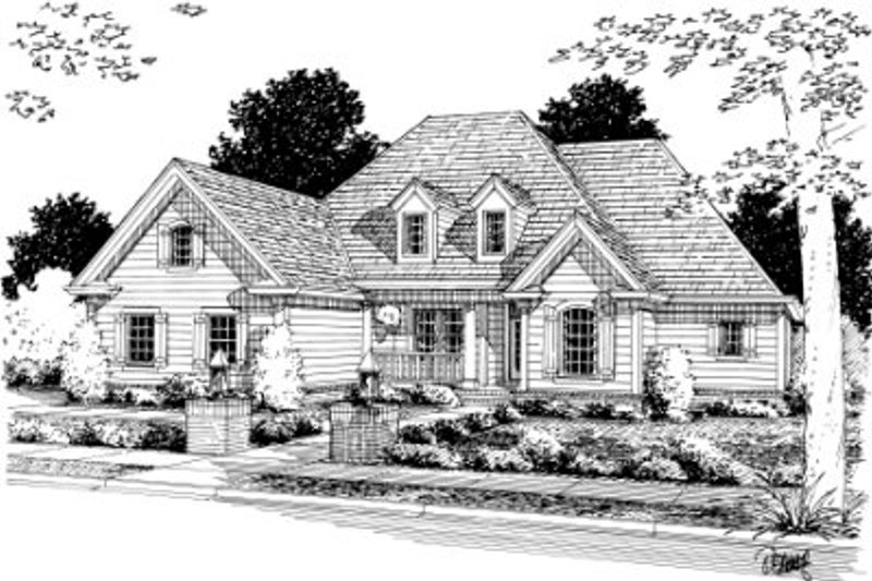 Architectural House Design - Traditional Exterior - Front Elevation Plan #20-344