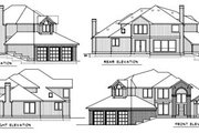Traditional Style House Plan - 4 Beds 2.5 Baths 2696 Sq/Ft Plan #100-446 Exterior - Rear Elevation
