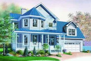 Architectural House Design - Victorian Exterior - Front Elevation Plan #23-601