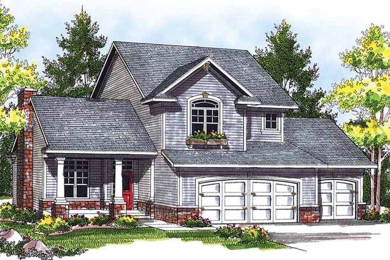 Home Plan - Traditional Exterior - Front Elevation Plan #70-725