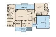Farmhouse Style House Plan - 6 Beds 4 Baths 3421 Sq/Ft Plan #923-102 Floor Plan - Main Floor Plan
