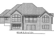 Traditional Style House Plan - 2 Beds 2 Baths 2425 Sq/Ft Plan #70-343 Exterior - Rear Elevation