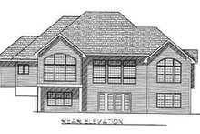Dream House Plan - Traditional Exterior - Rear Elevation Plan #70-343