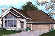 Traditional Style House Plan - 2 Beds 2 Baths 1365 Sq/Ft Plan #320-434 Exterior - Front Elevation
