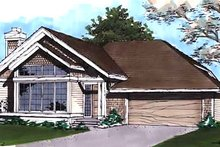 Dream House Plan - Traditional Exterior - Front Elevation Plan #320-434