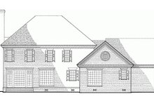 Southern Exterior - Rear Elevation Plan #137-139