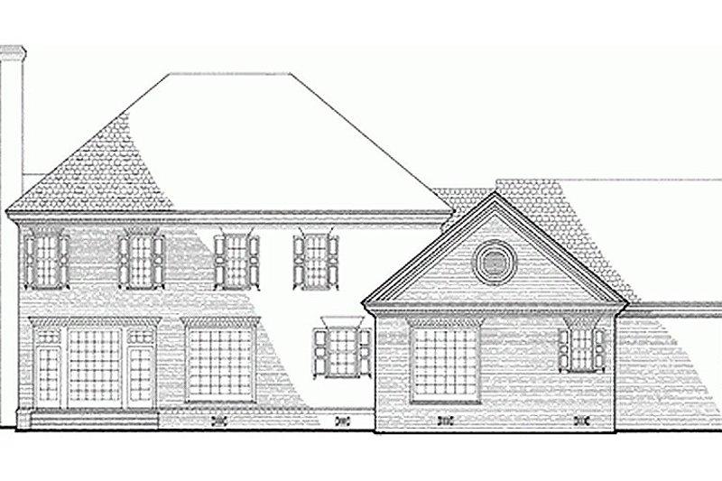 Southern Exterior - Rear Elevation Plan #137-139 - Houseplans.com