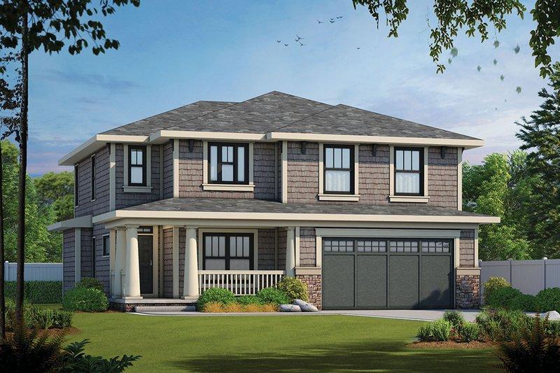 Craftsman Exterior - Front Elevation Plan #20-2289