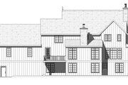 European Style House Plan - 3 Beds 2.5 Baths 3546 Sq/Ft Plan #901-143 Exterior - Rear Elevation
