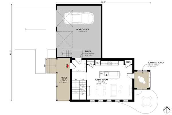 Farmhouse Floor Plan - Main Floor Plan Plan #933-8