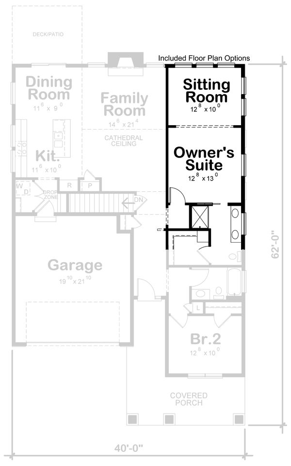 Cottage Floor Plan - Other Floor Plan Plan #20-2391