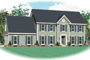 Colonial Exterior - Front Elevation Plan #81-13882