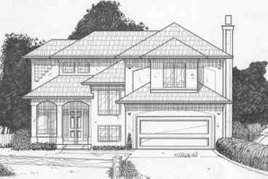 Traditional Exterior - Front Elevation Plan #6-112