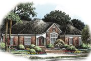 Colonial Style House Plan - 3 Beds 2.5 Baths 2902 Sq/Ft Plan #429-4 Exterior - Front Elevation