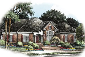 Colonial Exterior - Front Elevation Plan #429-4