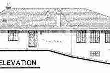 European Exterior - Rear Elevation Plan #18-9333