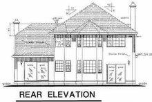 House Blueprint - European Exterior - Rear Elevation Plan #18-219