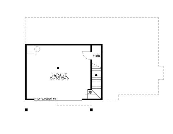 Craftsman Floor Plan - Lower Floor Plan Plan #53-582
