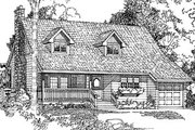 Country Style House Plan - 2 Beds 2 Baths 1417 Sq/Ft Plan #47-125