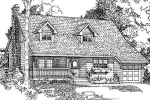 Country Exterior - Front Elevation Plan #47-125
