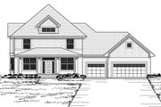 Farmhouse Style House Plan - 4 Beds 2.5 Baths 2637 Sq/Ft Plan #51-459 Exterior - Other Elevation