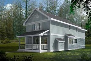 Cottage Exterior - Front Elevation Plan #100-406