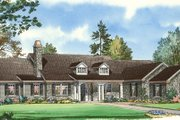 Traditional Style House Plan - 4 Beds 3.5 Baths 3481 Sq/Ft Plan #490-20 Exterior - Front Elevation