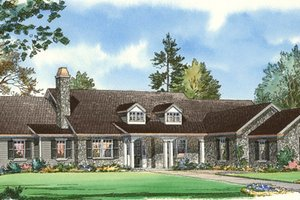 Traditional Exterior - Front Elevation Plan #490-20