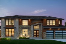 Contemporary Exterior - Front Elevation Plan #1066-22