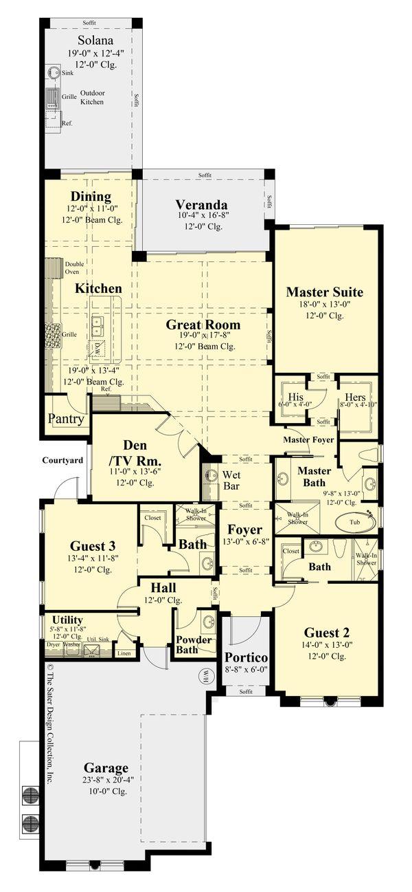 Dream House Plan - Modern Floor Plan - Main Floor Plan #930-524