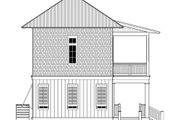 Beach Style House Plan - 3 Beds 4 Baths 2201 Sq/Ft Plan #443-4 Exterior - Rear Elevation