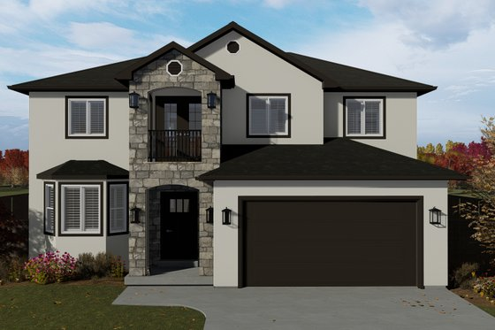 Traditional Exterior - Front Elevation Plan #1060-7