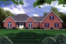 Dream House Plan - Traditional Exterior - Front Elevation Plan #21-173