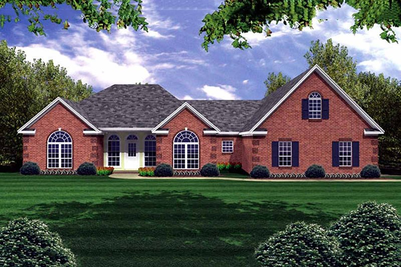 Traditional Style House Plan - 3 Beds 2.5 Baths 2251 Sq/Ft Plan #21-173 Exterior - Front Elevation